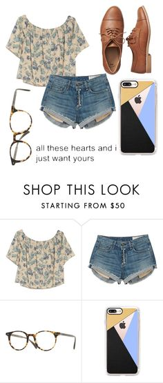 """Untitled #27"" by vivalafemme ❤ liked on Polyvore featuring OTTE, rag & bone, Oliver Peoples, Casetify and Gap"