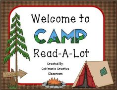 Camp Read-A-Lot SignPlace this in your room or outside your door! This will look great during your camp Read-A-Lot, or in your Camping Theme Classroom.Check my store out for more great camping products! If you like what you see...click follow me! Camping Bundle