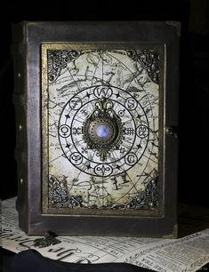 Notebook Astrology – shop online on Livemaster with shipping - Hobbies and interests Altered Books, Altered Art, Steampunk Book, Magic Book, Fantasy Weapons, Handmade Books, Journal Covers, Book Binding, Book Of Shadows