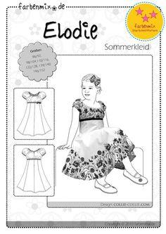 ELODIE, Papierschnittmuster, farbenmix StarSchnittPattern - farbenmix Online-Shop - Schnittmuster, Anleitungen zum Nähen