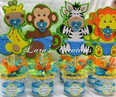 Jungle Safari party centerpiece. Baby Shower by LarasCreationsShop