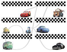 Printable Blank Tags/Cards Disney Cars Birthday por Kezziecakes