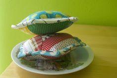 a stitch in dye: Hex Pincushions