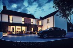 PLease take time to check out this replacement dwelling. This bespoke L-shaped dwelling design is a traditional rural farmstead in a secluded rural setting. Modern Farmhouse Design, Modern Farmhouse Exterior, Interior Design Northern Ireland, Crazy Houses, Nice Houses, House Designs Ireland, House Address, Farmhouse Renovation, Georgian Homes