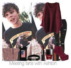 """Meeting Fans With Ashton"" by hazzgirl03 ❤ liked on Polyvore"