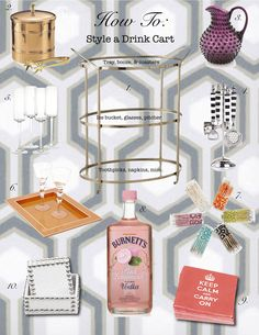 how to style a drink cart.