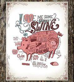 Love Me Some Fine Swine Art Print by Sarah Watts on Scoutmob Shoppe