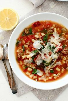 RUSTIC TOMATO AND ITALIAN SAUSAGE SOUP