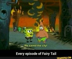 funny, fairytail, spongebob, lol