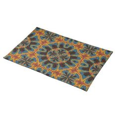 Tapestry pattern placemat - fancy gifts cool gift ideas unique special diy customize
