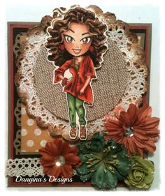 MyCarden: Fall Fashionista - Loves Rubberstamps Sensational Sunday Blog Hop - Fashionista- KennyK Copic Ciao Markers Mono Multi Liquid Glue- Tombow Tim Holtz Distress Ink Pad VINTAGE PHOTO from Ranger