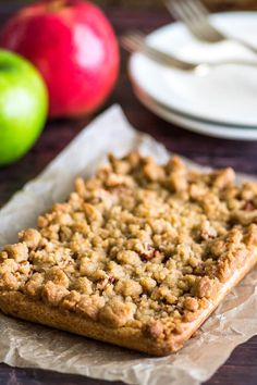 These Small-batch Apple Pie Bars are easier than pie! | #Dessert | #AppleDesserts | #EasyDesserts |