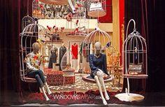 Visual merchandising #jaulas Pineado por Pilar Escolano