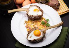Alcachofas rellenas con huevos revueltos {receta apta Dukan, Crucero PV}