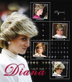 Liberia Stamps -  Princess Diana