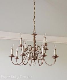 Chandelier Makeover in minutes - DeeplySouthernHome