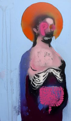 Graffiti artist Robert Del Naja from Massive Attack Arte Horror, Horror Art, Art And Illustration, Kunst Online, Santa Lucia, Street Art Graffiti, Surreal Art, Dark Art, Art Forms