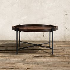 """Palencia 34"""" Round Coffee Table With Iron Base"""