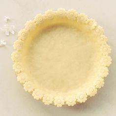 Flower crowned pie crust