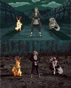 Sick Naruto, Tsunade and Killer Bee cosplay! Anime Naruto, Naruto Chibi, Kakashi Sensei, Naruto Shippuden Sasuke, Naruto Art, Otaku Anime, Boruto, Kakashi Hokage, Cosplay Anime
