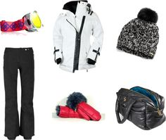 on the slopes..cool ski gear