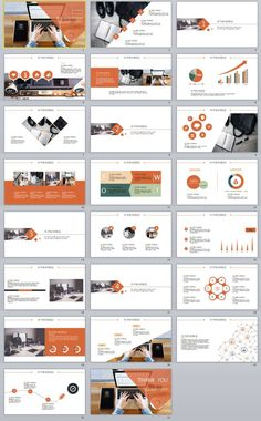 23+ gray business report PowerPoint templates