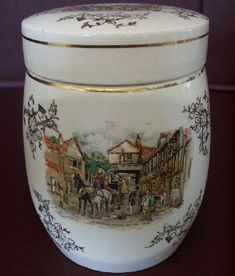 Sandland Ware Hanley Staffordshire England Biscuit Jar by Sea Witch Antiques, via Flickr