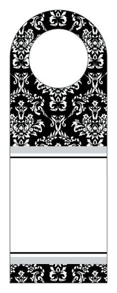 Three Designing Women Black Toile Wine Bottle Tags