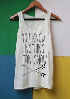 You Know Nothing Jon Snow Shirt Game of Thrones von LibraryOfShirt, $14.99