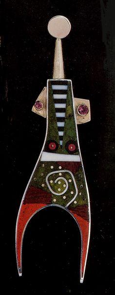 """Brooch """"X-Ray-U""""  © Tod Pardon 1993"""