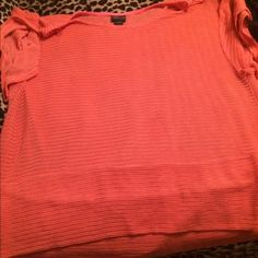 Coral summer sweater Loose knit coral top, very soft. Needs to be worn with a top underneath as it is see through. torrid Tops Blouses