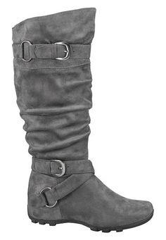 <ul><b>Overview</b><li>soft faux suede</li><li>non-adjustable buckle detail</li><li>rounded toe</li><li>lightly padded footbed</li><li>side zipper</li><li>must have boot for all occasions</li></ul><ul><b>Sizing</b><li>15 inch shaft height</li><li>16 inch calf circumference</li></ul><ul><b>Fabric and Care</b><li>Style Number: 47604</li><li>Imported</li><li>Man made materials</li><li>Wipe clean</li></ul>