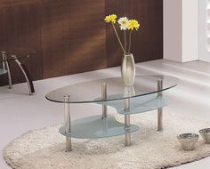 fiorelle clear glass coffee table 89 95 livingroom furniture lounge home decor interior glass coffeetable plants flowers rug