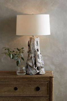 Driftwood Table Lamp #anthrofave