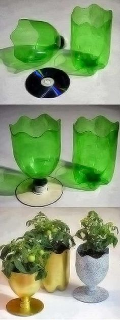 DIY Simple Upcycle Plastic Bottle Vase - All Natural & Good