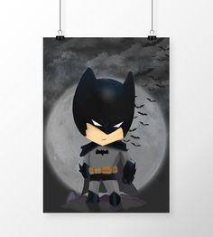 Poster Batman Chibi DC Comics em print