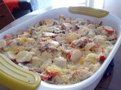 Arroz, champiñones y palmitos de cangrejo