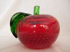 Hey, I found this really awesome Etsy listing at https://www.etsy.com/listing/89183292/vintage-large-glass-paperweight-paper