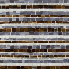 Artistic Tile  | Jazz Glass Collection; Chicago with Silver Louie Linear
