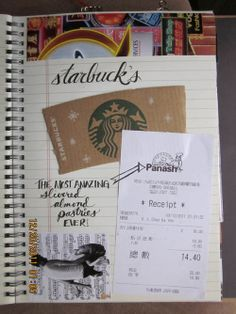 """""""smash travel journal"""" """"I think I'll keep a notebook and a gluestick, along with some pens in the car from now on during road trips. Fun way to document the trip."""