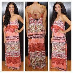 """Mindy"" Maxi Tribal Dress Small, Medium,Large $46.00 http://www.smalltowngypsy.com/catalog.php?item=3432"