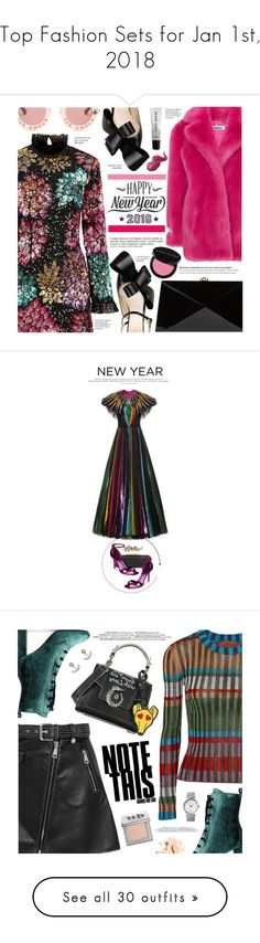 """Top Fashion Sets for Jan 1st, 2018"" by polyvore ❤ liked on Polyvore featuring ATP Atelier, Millie Mackintosh, Jakke, Delpozo, Gucci, Rocio, Bobbi Brown Cosmetics, Cricut, Anja and Alexander McQueen"