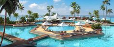 Best Swimming Pools In The World - Business Insider - 25 Gorgeous Pools Everyone Should Swim In Once - The Hayman Island resort in Australia has a massive pool complex with a freshwater pool within a larger saltwater pool. Cool Swimming Pools, Best Swimming, Cool Pools, Awesome Pools, Best Resorts, Vacation Resorts, Hotels And Resorts, Vacation Places, Foto Top