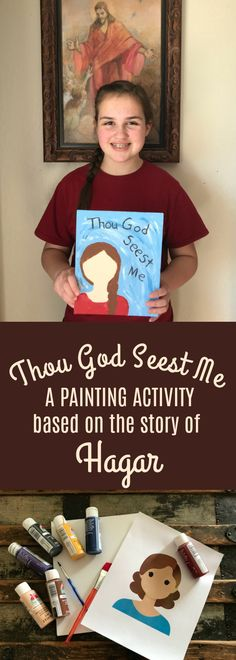 Thou God Seest Me painting activity based on the story of Hagar. Great for young women or Activity Day girls to do as an activity. Covers Divine Nature and Individual Worth. Girls Camp Activities, Mutual Activities, Activity Day Girls, Young Women Activities, Nature Activities, Church Activities, Activity Days, Summer Activities, Indoor Activities