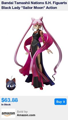 Black Lady, the memorable dark version of Chibiusa, is coming to S.H.Figuarts in possibly the most elegant figure design yet! * Sailor Moon fans will recall how the Wiseman used his dark magic to bring about the evil Black Lady (and possibly the memorable badminton scene too) * This magnificently wicked set includes the dark Luna-P ball and support base, the aforementioned badminton set (racket and shuttle), shawl, shawl support parts, special stage, interchangeable hands (x7), and interchan