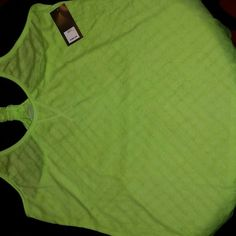 Old Navy Active Neon Green Racerback sz L Neon Green NWT SZ LARGE LOOSE FIT RACERBACK Old Navy Tops Tank Tops