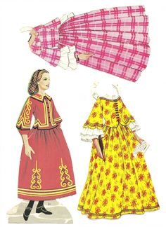 LITTLE WOMEN paper dolls, late 1960's or early 1970's.  Meg, JO, Beth, Amy and Laurie.