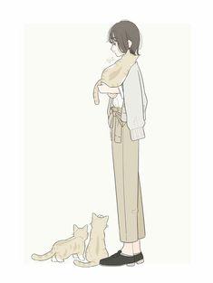 New pet art ideas pictures 66 Ideas Cartoon Kunst, Cartoon Art, Mini Mundo, Manga Cute, Cat Drawing, Anime Art Girl, Cute Illustration, Girl Cartoon, Cute Wallpapers