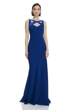 e414199d9d0084 Crepe Asymmetrical Gown - #883852 - Crepe, asymmetrical gown features  mermaid hem and satin