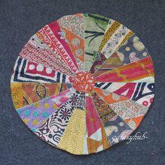 "New 28/"" Pillow Cover Handmade Elephant Round Mandala Floor Cushion Covers Throw"